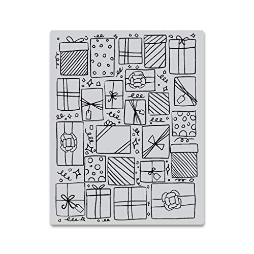 """Hero Arts CG754 Cling Stamps, Presents Background, 4.25"""" x 5.5"""""""