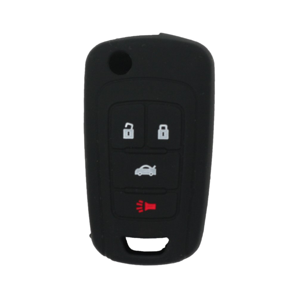 SEGADEN Silicone Cover Protector Case Skin Jacket fit for BUICK CHEVROLET 4 Button Flip Remote Key Fob CV9601 Pink
