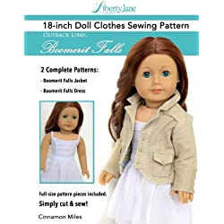 "Liberty Jane 18"" Doll Clothes Pattern Outback Libby Boomerit Falls: 18 Inch Doll Clothes Patterns With Step-By-Step Instructions And Pattern Pieces"