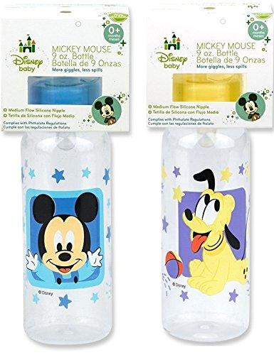 Disney Mickey Bottle (9oz) - Mickey, Mini, Pluto Characters Vary