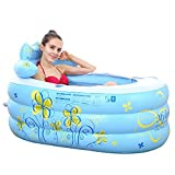 TOYM US Thicker Insulation Folded Inflatable Bath Tub ( Color : Blue (large) )