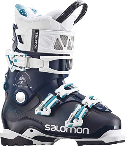 SALOMON QST Access 80 Ski Boots Womens Petrol/Black Sz 7.5 (24.5)