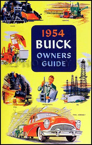 1954 Buick Owners Manual Reprint