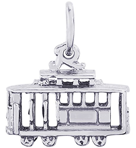 Rembrandt Charms Sterling Silver 3-D Cable Car Charm (14 x 8 mm) ()