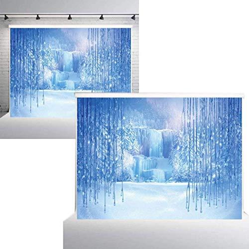DREAMVAN Snow Ice Winter Photography Backgrounds Cloth Studio Video Photo Backdrop Presentation Pointers ()