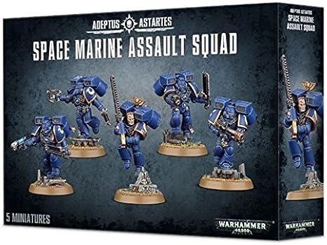 Warhamme 40000-Space marine-Vétérans d/'assaut-Tête 7