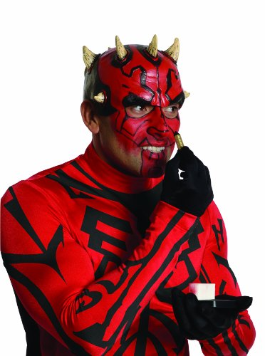 Samurai Deluxe Costumes (Star Wars Deluxe Darth Maul Costume Kit, Red/Black, Standard)