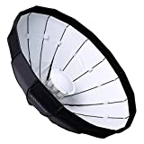 """Pro Studio Solutions EZ-Pro 32"""" Beauty Dish and Softbox Combination with Elinchrom Speedring for Elinchrom, Calumet Genesis, and Compatible - Quick Collapsible, Soft White Interior, with Double Diffusion Panels"""
