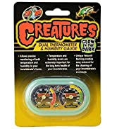 Zoo Med Creatures Dual Thermometer amp; Humidity Gauge