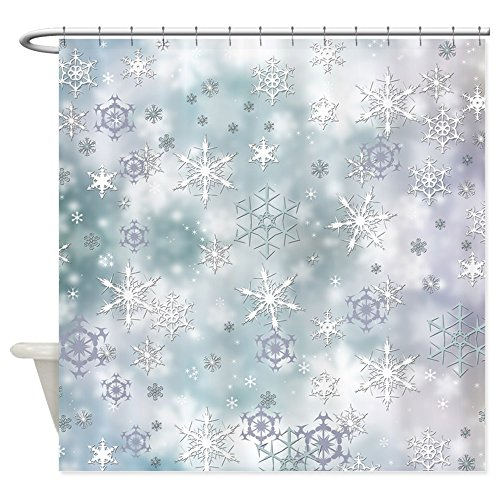 CafePress Snowflakes Winter Decorative Fabric Shower Curtain