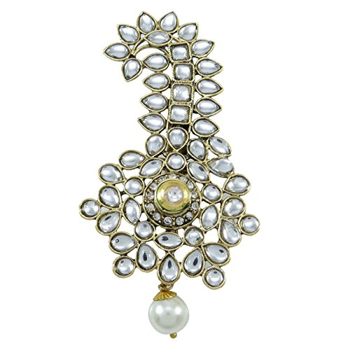 Banithani Goldtone Brooch Pin Designer Dresses Scarf Accessory Party Wear Jewelry - Designer Gold Tone Brooch