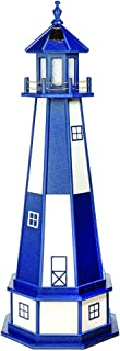 product image for DutchCrafters Decorative Lighthouse with Base - Wood, Cape Henry Style (Patriot Blue/White, 5)