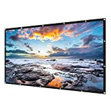 OTYTY 120 inch Projector Screen, 16:9 HD Foldable Anti-Crease Portable Projection Movies Screen for Home Cinema Theater Outdoor Indoor Support Double Sided Projection, PVC Fabric