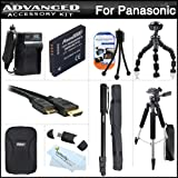 Complete Accessory Kit For Panasonic DMC-3D1 3D Digital Camera Includes Extended (1200mAh) Replacement DMW-BCG10 Battery + Ac/Dc Travel Charger + Deluxe Case + Mini HDMI Cable + 57 Pro Tripod + 67 Monopod + Flexible Tripod + USB Card Reader + Much More