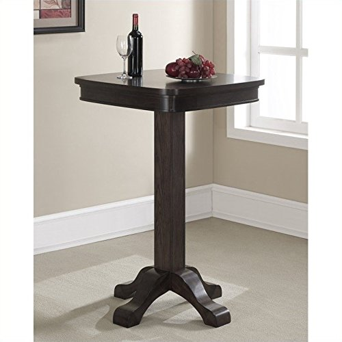 Series Table Base (American Heritage 100533RB Sarsetta Series Pub Table with Footed Pedestal Oak Veneer Top Rubberwood Base and Square Shaped Top:)