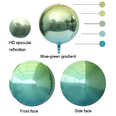 3D Foil Balloon Birthday Orb Sphere Disco Beach Ball Helium or Air Fill Globe