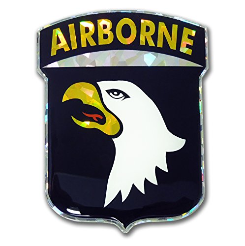U.S. Army 101st Airborne Screaming Eagles Reflective 3D Decal Domed Sticker Emblem