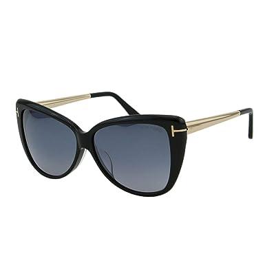 386178495ab52 Sunglasses Tom Ford FT 0512 -F 01C Shiny Black Smoke Mirror at ...