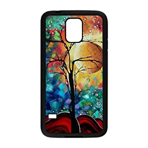 Samsung Galaxy S5 Cell Phone Case Covers Black abstract Painting Phone cover SE8583965
