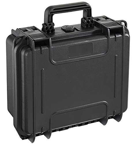 DURATOOL MAX235H105S.079 Storage Case, Waterproof, with Foam, Black, 235mm x 180mm x 106mm