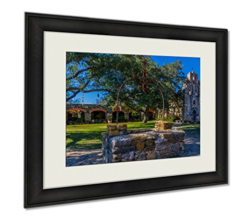 Ashley Framed Prints Full View Of The Historic Old West Spanish Mission Espada 1690 Texas, Wall Art Home Decoration, Color, 34x40 (frame size), AG6515920 by Ashley Framed Prints