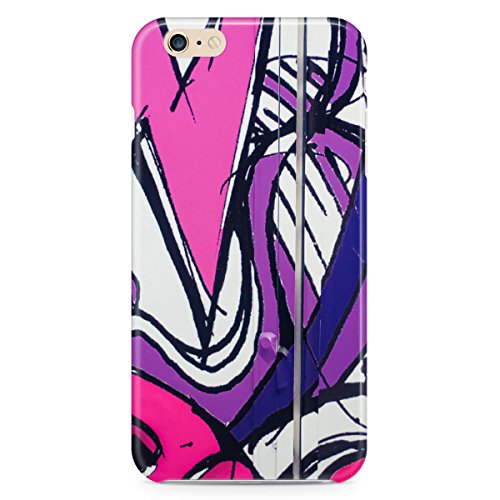 Phone Case For Apple iPhone 6 Plus - Purple Graffiti Urban Wrap-Around Slim