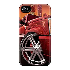 Scratch Protection Hard Cell-phone Cases For Iphone 4/4s (AxX15420hudH) Unique Design Lifelike Iphone Wallpaper Skin