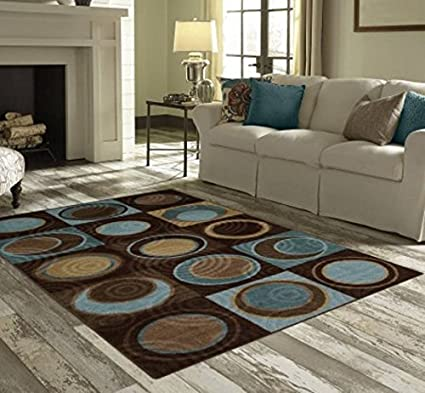 Amazon Com Better Homes And Gardens Circle Block 3 Piece Area Rug