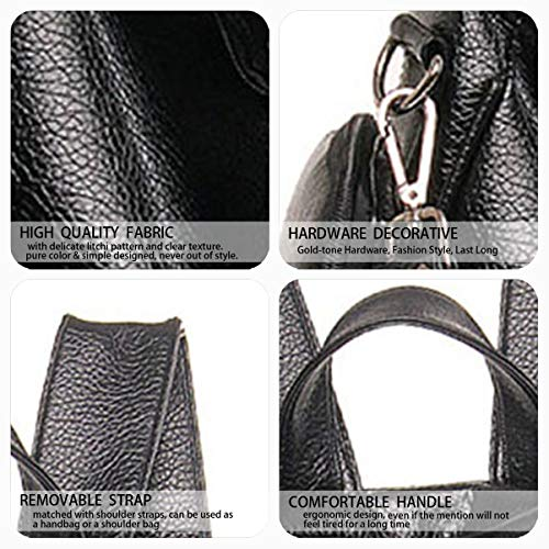 Sacs main portés Cuir Faux Sacs Femme bandoulière Noir DEERWORD Noir Sacs portés dos 5BfXngXqYw