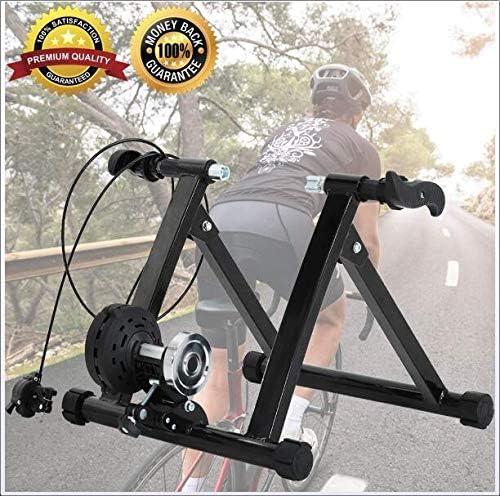 抵抗スポーツブラケット、自転車トレーニングマシンポータブル屋内とノイズ低減ホイールマグネットトレーニング自転車マウンテン固定自転車ブラケット