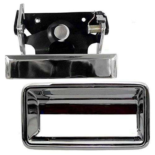 2 Piece Set Chrome Tailgate Handle and Trim Bezel Replacement for GMC Chevrolet Pickup Truck 15991785 15991786 AutoAndArt ()