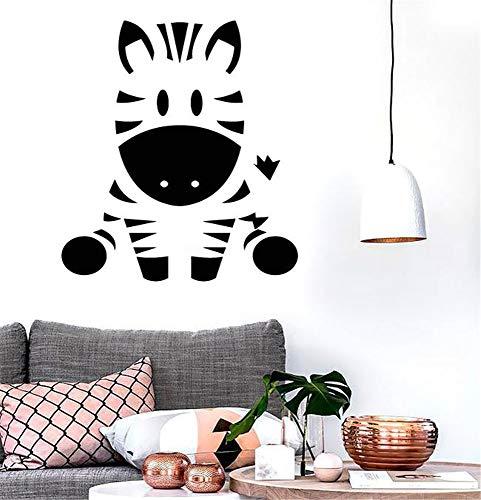 zdcvdv Vinyl Wall Decals Quotes Sayings Words Art Deco Lettering Inspirational Cute Zebra Animal Funny for Kindergarden or Kids Children's Bedroom playroom