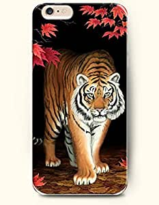 OOFIT iPhone 6 Case ( 4.7 Inches ) - Tiger Walking from the Darkness