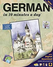 GERMAN in 10 minutes a day: Language course for beginning and advanced study. Includes Workbook, Flash Cards,