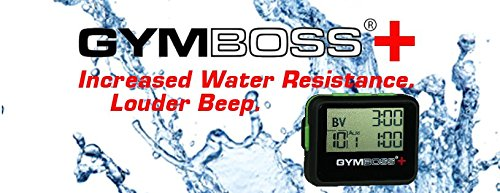 Gymboss Plus Interval Timer and Stopwatch - Black/Green SOFTCOAT