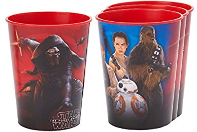 Star Wars Plastic Reusable Cups 16 Oz (4 Pack)
