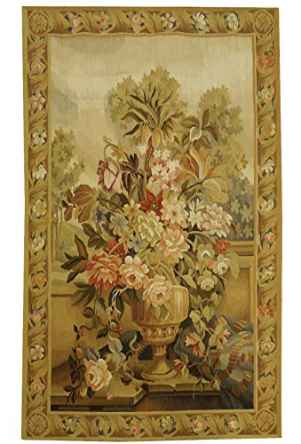 Tapestry Flat Weave Rug 2' 6'' x 4' Fine Quality Aubusson Weave Handmade Rug ()