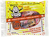 Glee Gum Mini Glee Variety, 4-Piece Mini Glees, 6-Ounce Bags (Pack of 5)