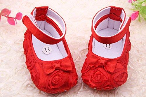 hellodd Mädchenschuhe für Neugeborene 11cm rot