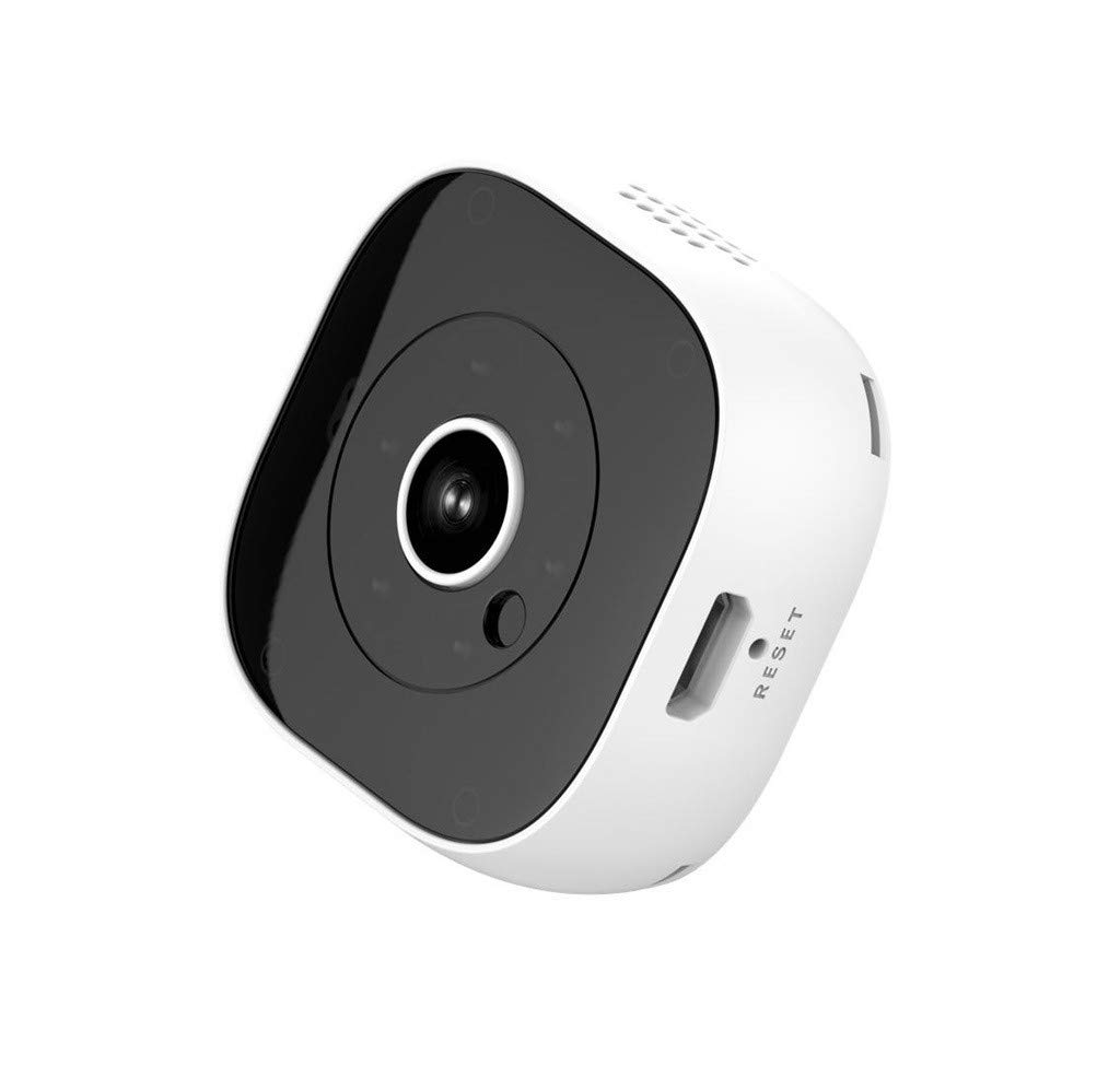 Mini Camera 1080P Home Security Camera DV DVR IP Cam Infrared Night Vision Hidden Camera, Strong Magnetic Adsorption, Remote Monitoring, Loop Recording, Motion Detection (White)