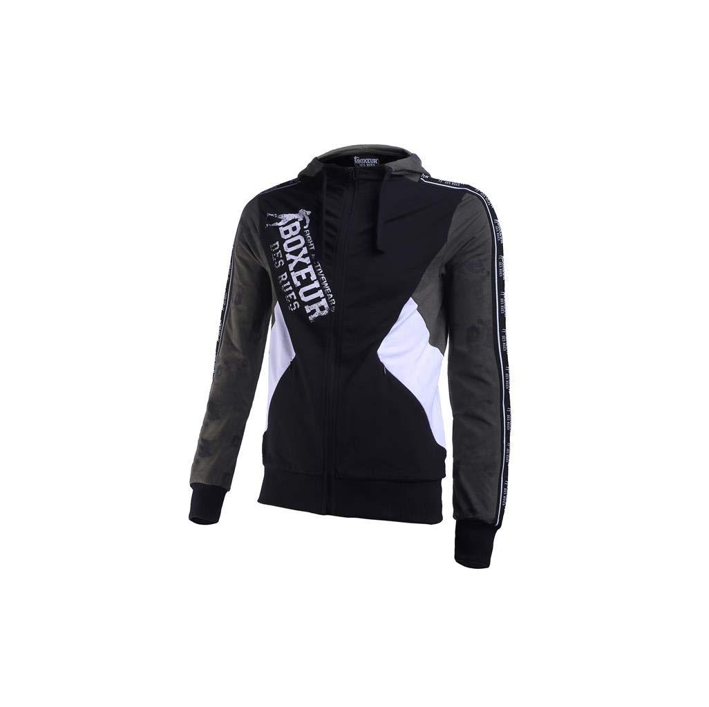 BOXEUR DES RUES Herren Bxt-4927 Sweatshirt Mit Kapuze Und Durchgehendem Reißverschluss