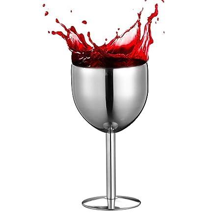 Volwco Vasos de Vino Acero Inoxidable Pulido, para Piscina ...