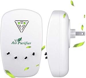 Wustentre Portable Air Purifier, Plug in Air Purifiers, Air Purifier Plug in for Home Bedroom Office and Travel, Mini Air Purifiers Plug and Play
