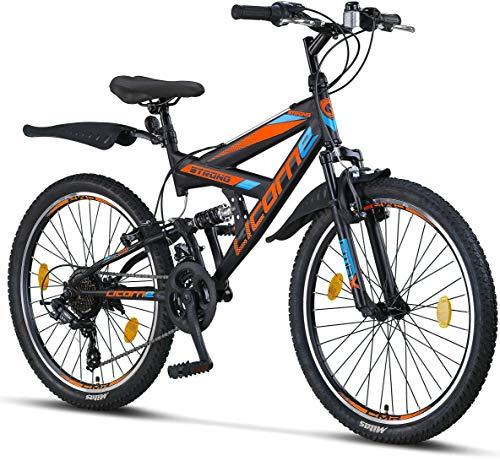 Licorne Bike Premium Strong V mountainbike in 24 en 26 inch – fiets voor jongens, meisjes, dames en heren – 21…