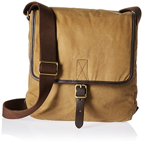 (Fossil Men's Buckner Leather Trim City Bag, Brown)