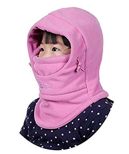 ZZLAY Children's Balaclavas Hat Thick Thermal Windproof Ski Cycling Face Mask Caps Hood Cover Adjustable (Cap Balaclava)