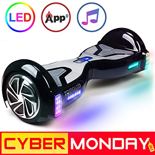 """51jkwuhkIwL - TOMOLOO Hoverboard with App and LED Lights Two-wheel Bluetooth Self Balancing Scooter with UL2272 Certified, 6.5"""" Wheel Electric Scooter for Kids and Adult"""