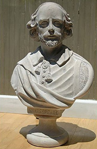 William Shakespeare Bust Statue Marble Stone Old Style Large Life Size Sculpture ()