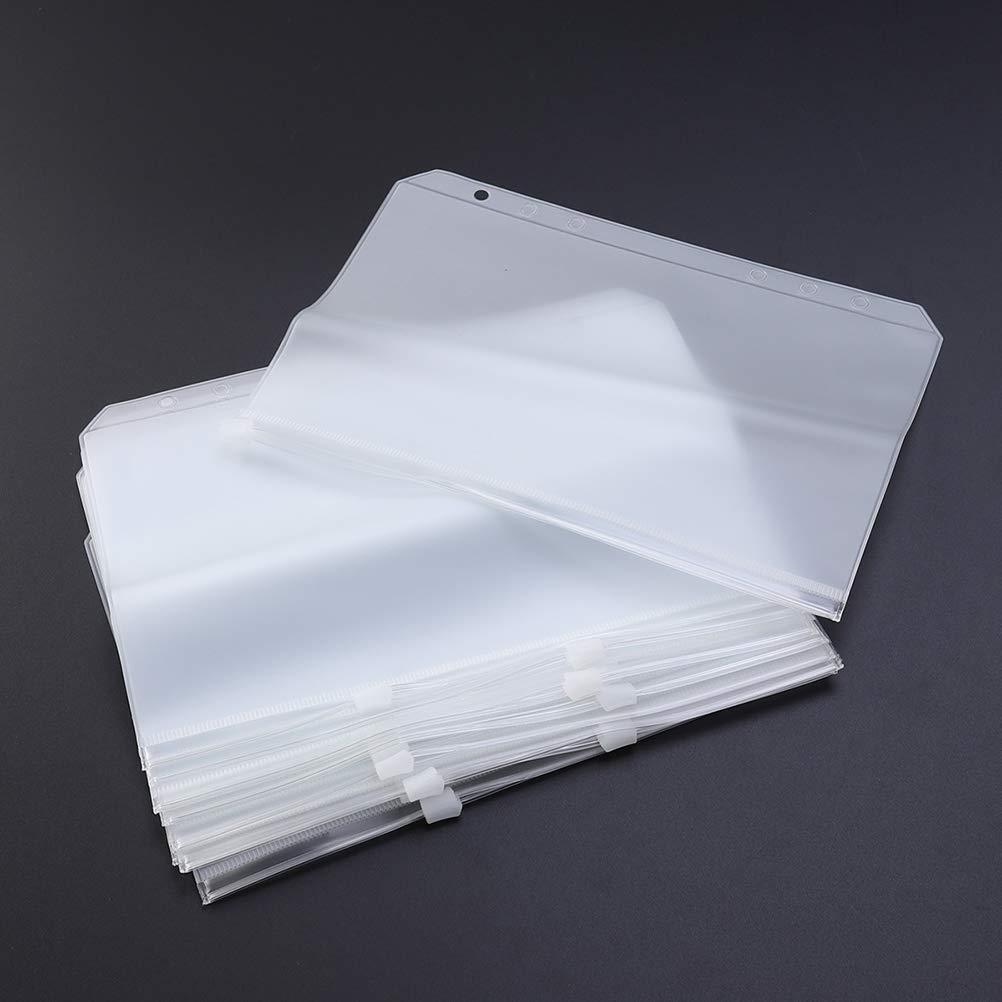 Toyvian 30pcs A5 Zipper File Bags Pencil Pouch Supporto documento Zip per Forniture per Ufficio Carte da Lavoro Custodia da Viaggio Protezione antisporco