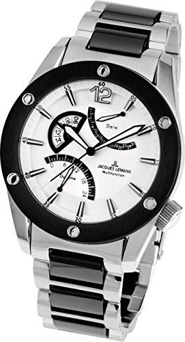 Jacques Lemans Liverpool GMT 1-1739G 46mm Steel Bracelet & Case Mineral Men's Watch